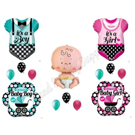 Gender Reveal Clothes Boy Or Girl Baby Shower Balloons Decorations
