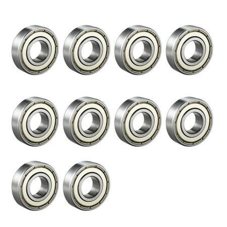 1/4 Chrome Steel Bearing - Deep Groove Ball Bearing 6001Z Double Shield, 12mmx28mmx8mm Chrome Steel 10pcs