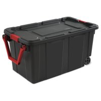 2-Pack Sterilite 40-Gallon Wheeled Industrial Tote (Black)