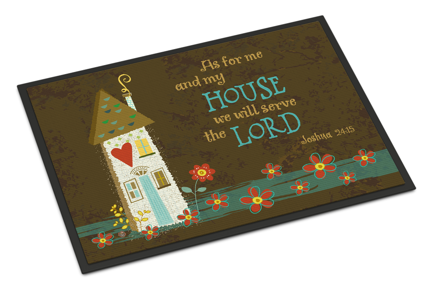 As For Me And My House Doormat by Caroline's Treasures