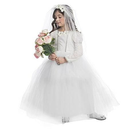 Dress Up America Bridal Princess Costume- Size Toddler 4 - Toddler Dress Up Costumes