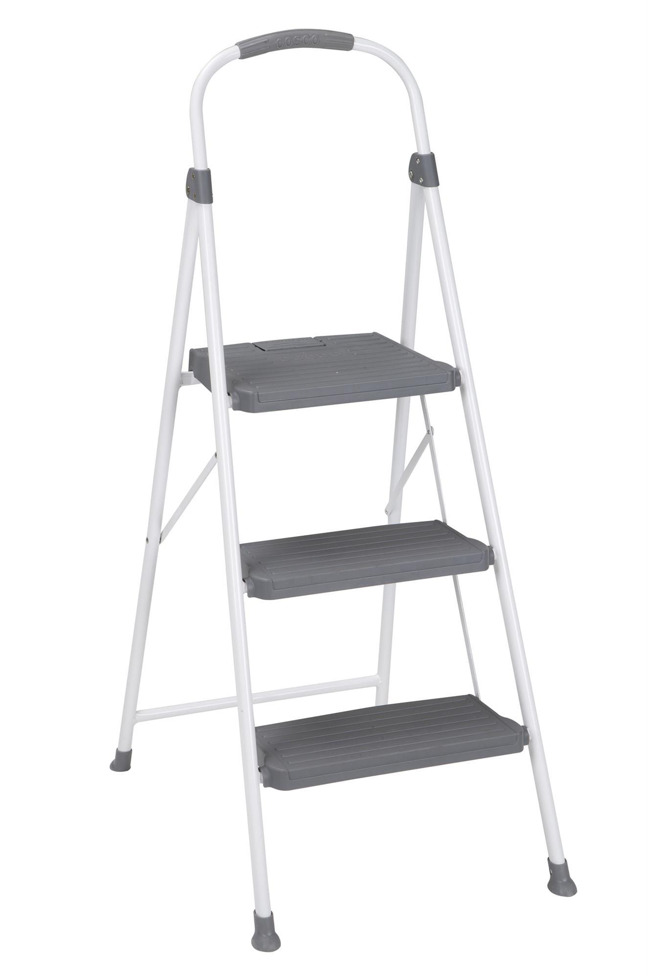 Incredible Cosco 3 Step Premium Stool Large Step Grey Walmart Creativecarmelina Interior Chair Design Creativecarmelinacom