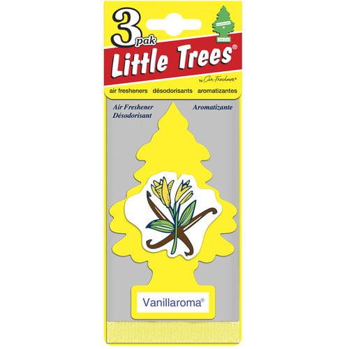 Little Trees Air Freshener Air Fresheners, Vanillaroma, 3-Pack