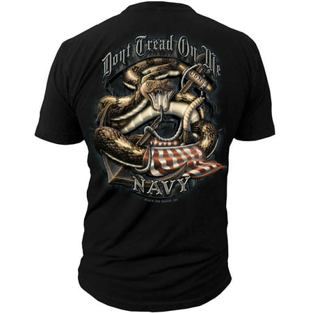 Navy Don't Tread on Me T-Shirt Black