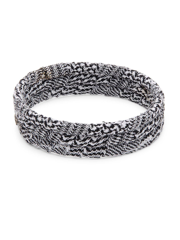 Set of 3 Wrapped Bangle Bracelets