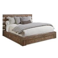 A.R.T. Furniture  Epicenters Williamsburg Distressed Brown Platform Storage Bed