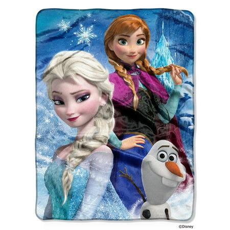 Disney Frozen Ice Castle 46x60 High Definition Silk Touch Throw