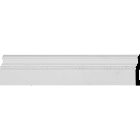 """4 7/8""""H x 5/8""""P x 94 1/2""""L Oslo Rope Baseboard Moulding"""