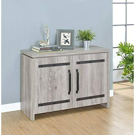 Contemporary 2 Door Accent Cabinet, Rustic Grey ()