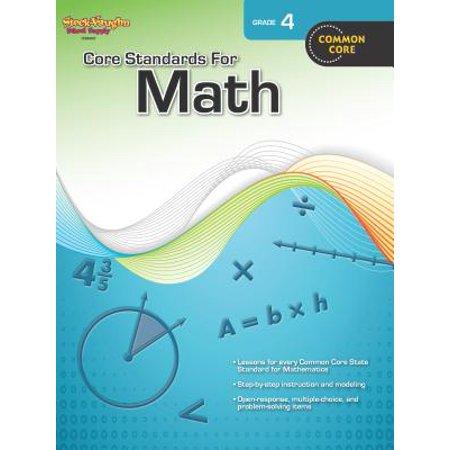 Core Standards for Math : Reproducible Grade 4 - Math Supplies