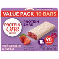 Protein One 90 Calorie Strawberries & Cream Bars 10 Count, 9.6 oz