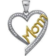 Gold and Diamonds PH2362-W 0.13CT-DIA MOM PENDANT- Size 7