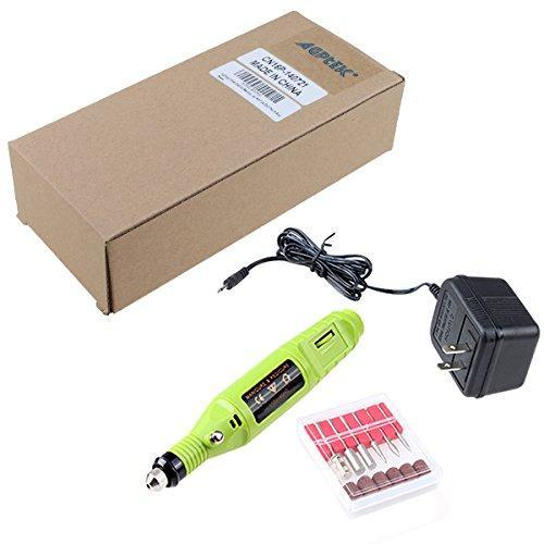 AGPtek Green Electric Manicure pedicure machine Nail Art File Drill Pen 6 Bits
