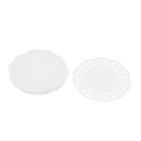 Paper Disposable Cake Cupcake Holder Table Placemat White 11.5cm Dia 100pcs - Cake Table