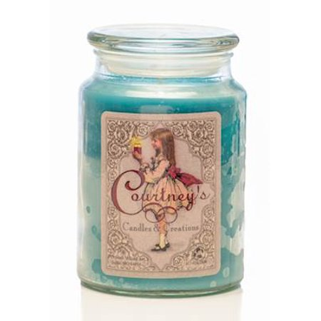 CITRUS SAGE - Courtneys Candles Maximum Scented 26oz Large Jar Candle - Burns 200 Hours