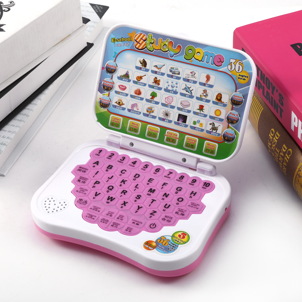 Yosoo Baby Kids Children Bilingual Educational Learning Study Toy Laptop Computer Game, Educational Laptop, Baby Laptop