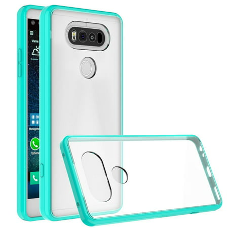 LG V20 Case - Armatus Gear (TM) Ultra Slim Acrylic Clear Case with TPU Grip Bumper Hybrid Phone Cover for LG