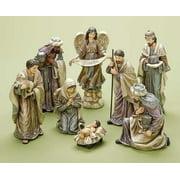 Soft Colorway Porcelain Christmas Nativity Figurines Set of 8 Pieces