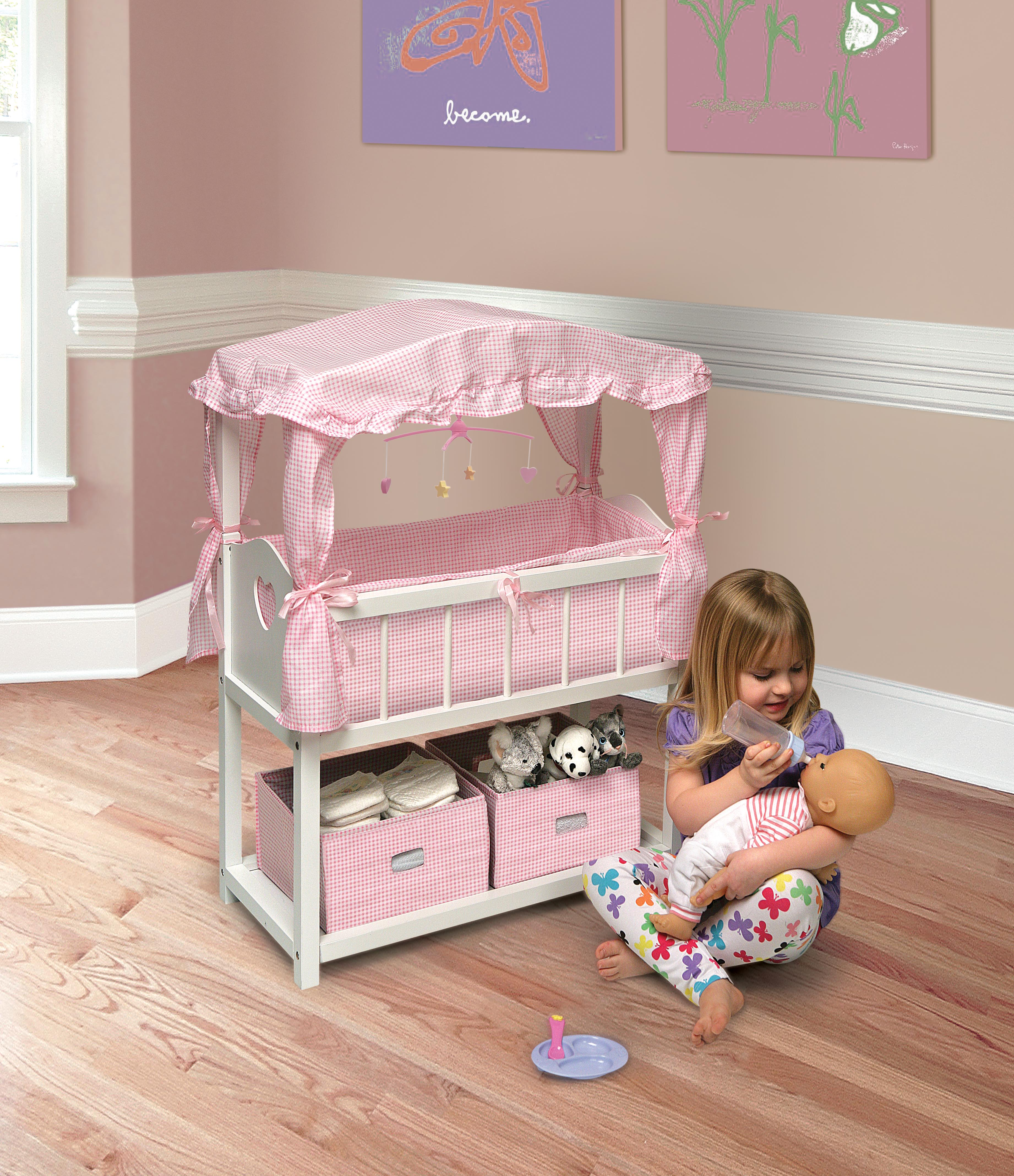 crib not included American Girl Bitty Baby SWEET /& SOFT CANOPY