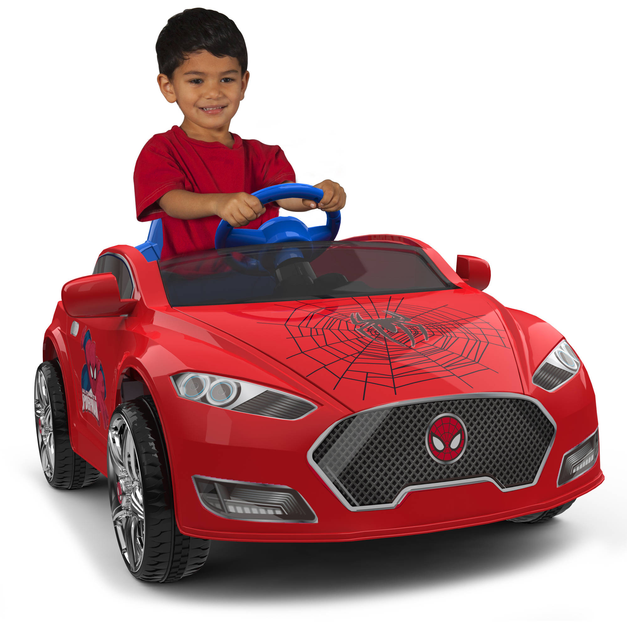 Spider-Man 6V Speed Electric Battery-Powered Coupe Ride-On Image 1 of 6