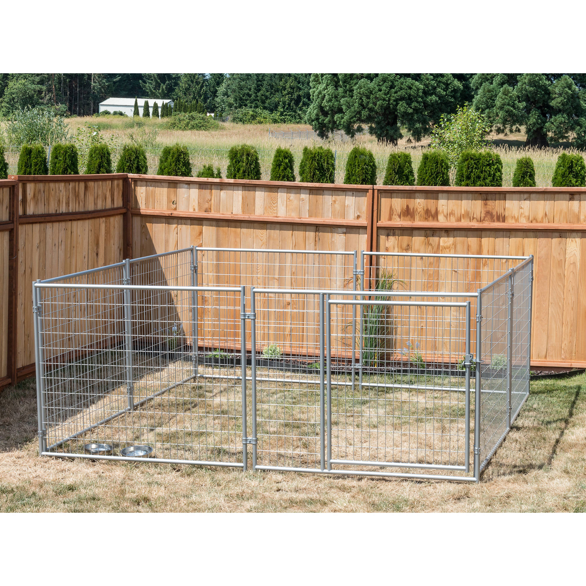 Lucky Dog 4'H x 5'W x 10'L Modular Welded Wire Kennel Kit