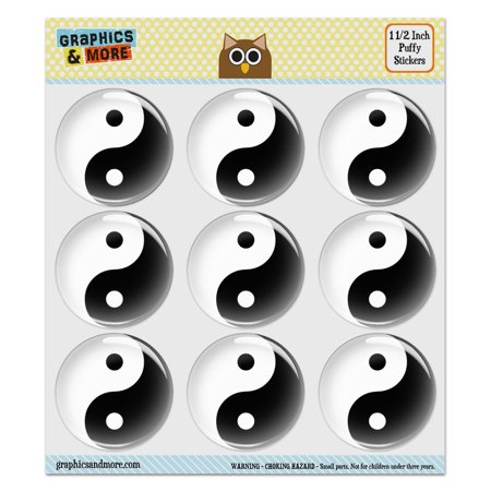 Yin And Yang Chinese Symbol Taoism Puffy Bubble Dome Scrapbooking
