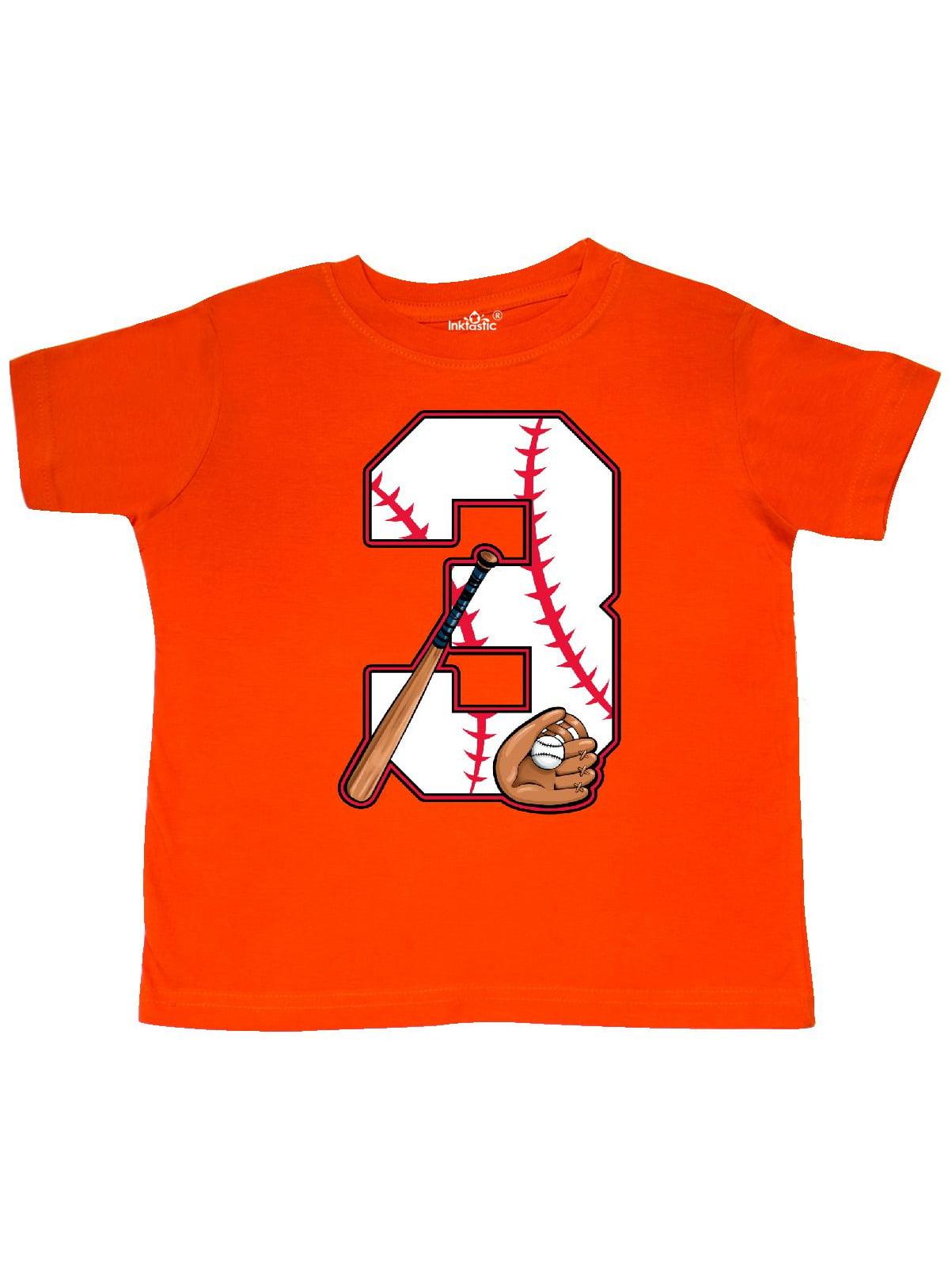 Baseball Third Birthday- three years old Toddler T-Shirt
