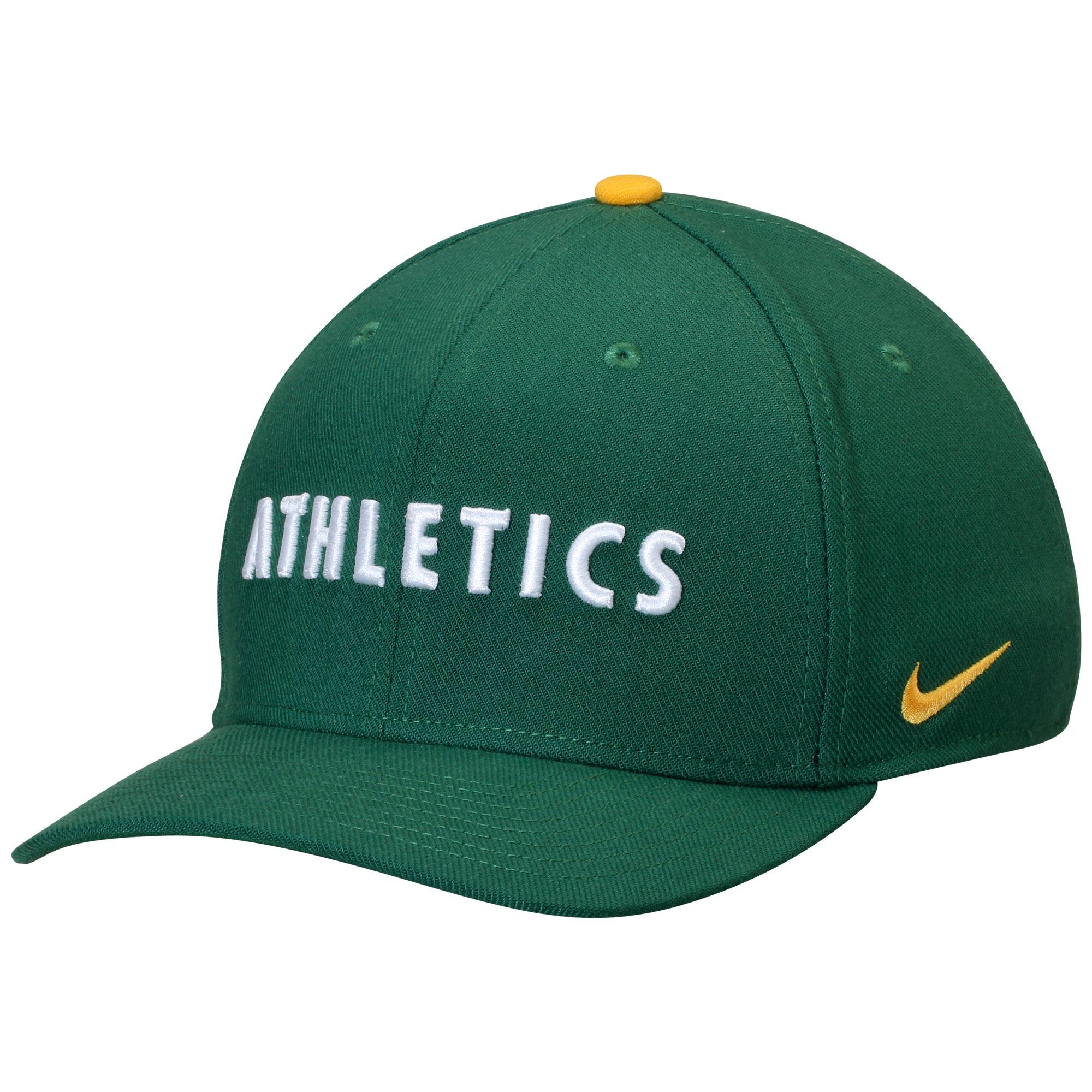 Oakland Athletics Nike Classic Swoosh Performance Flex Hat - Green
