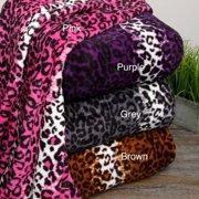 Leopard Microplush Blanket King Pink