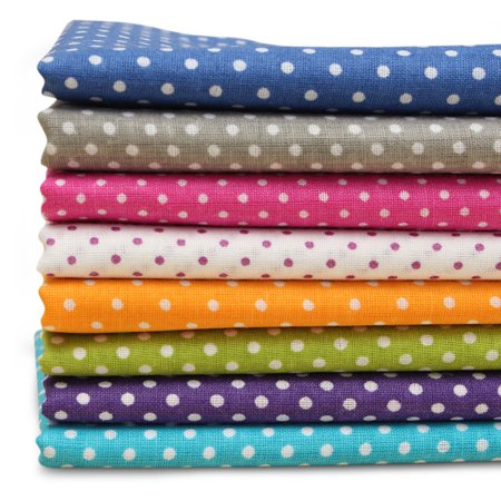 7Pcs/Lot DIY Squares Pre Cut Cotton Cotton fabric Cloths Craft Quilt Fabric Bundles Wave Point Quiltting Sewing 50 X 50cm