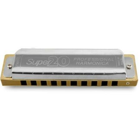 Hering 8020C Super 20 Diatonic Harmonica - Key of C - Plastic Harmonicas