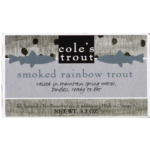 Cole's Trout Smoked Rainbow Trout, 3.2 oz, (Pack of 10) by