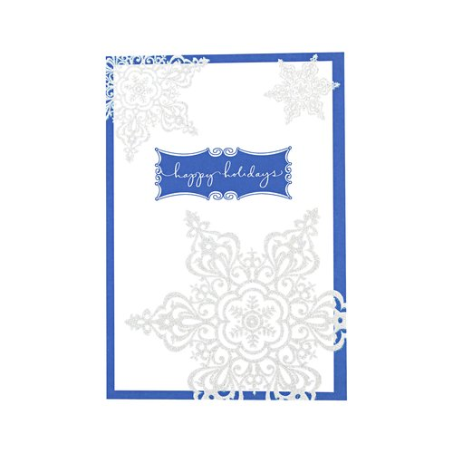 DaySpring Happy Holidays White Snowflake Card