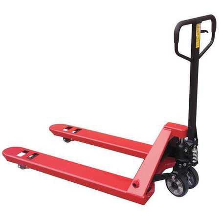 Pallet Jack,4400 lb.,Quiet,Steel,Red DAYTON 32HD10