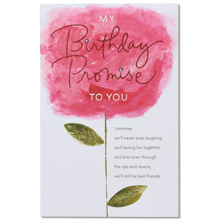 American Greetings Birthday Promise Birthday Card With Rhinestone