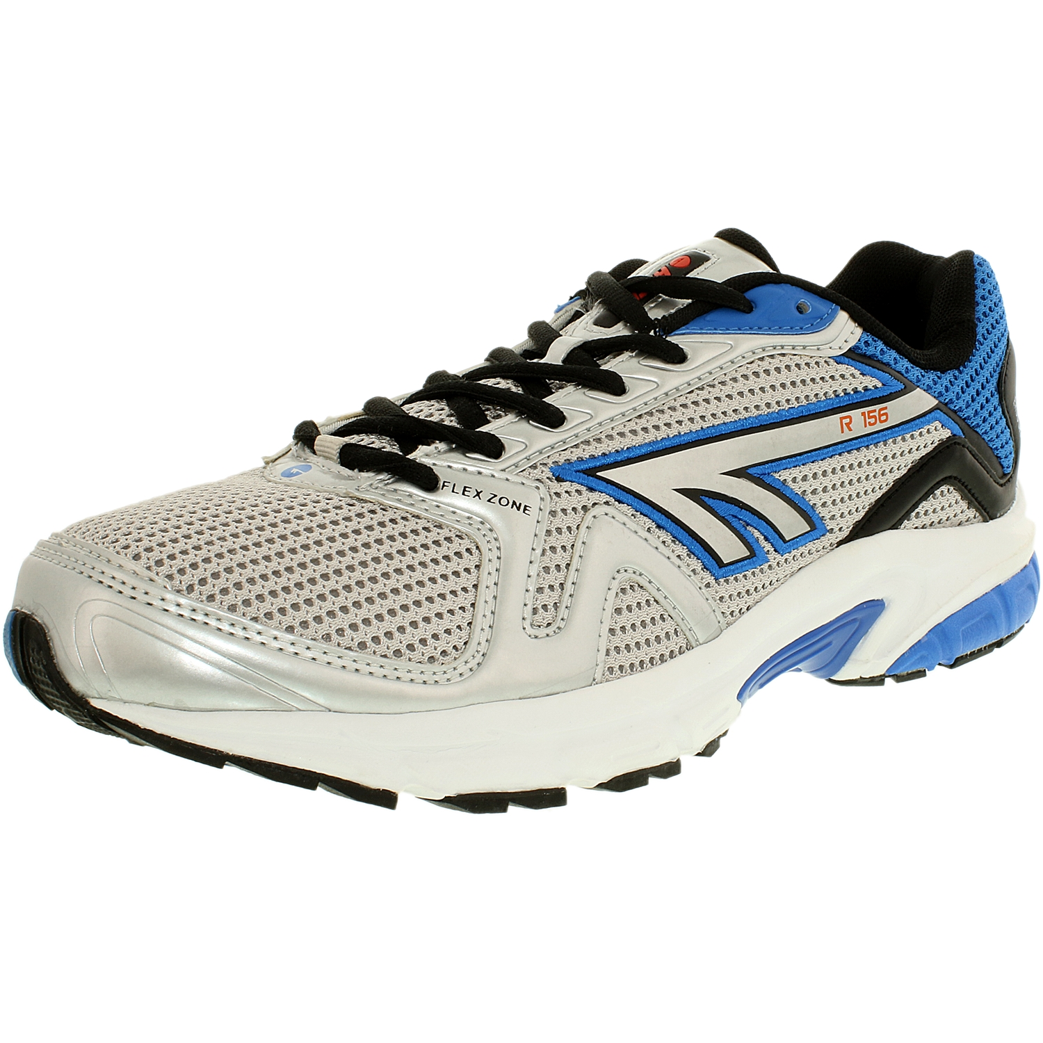 Hi-Tec Men's R156 White Silver Blue Ankle-High Running Shoe 12M by Hi-Tec