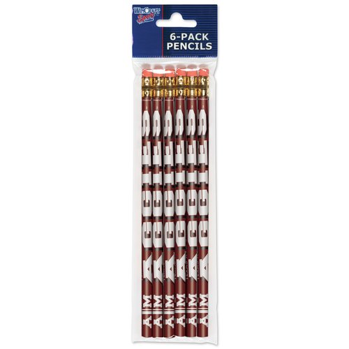 American Logo Products Texas A&M Aggies Pencils, 6-Pack