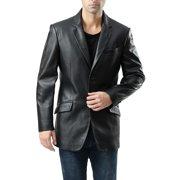 "BGSD Men's ""Benji"" One-Button New Zealand Lambskin Leather Blazer"