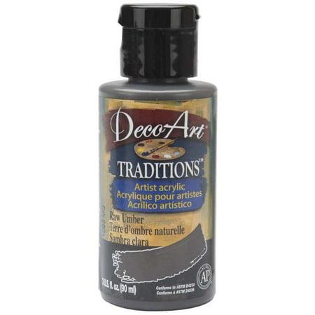 Deco Art Traditions Acrylics 3oz-Raw Umber