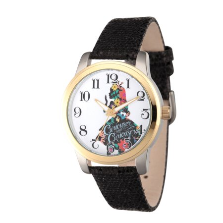 White Witch Alice In Wonderland (Alice in Wonderland Women's Two Tone Alloy Watch, Black Sequins)