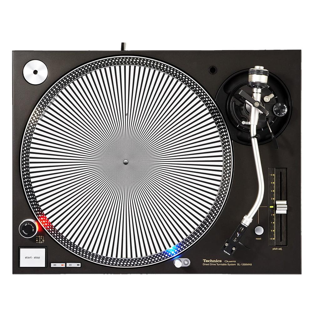 "KuzmarK™ 12"" DJ Turntable Slipmat - Spiral Blend"