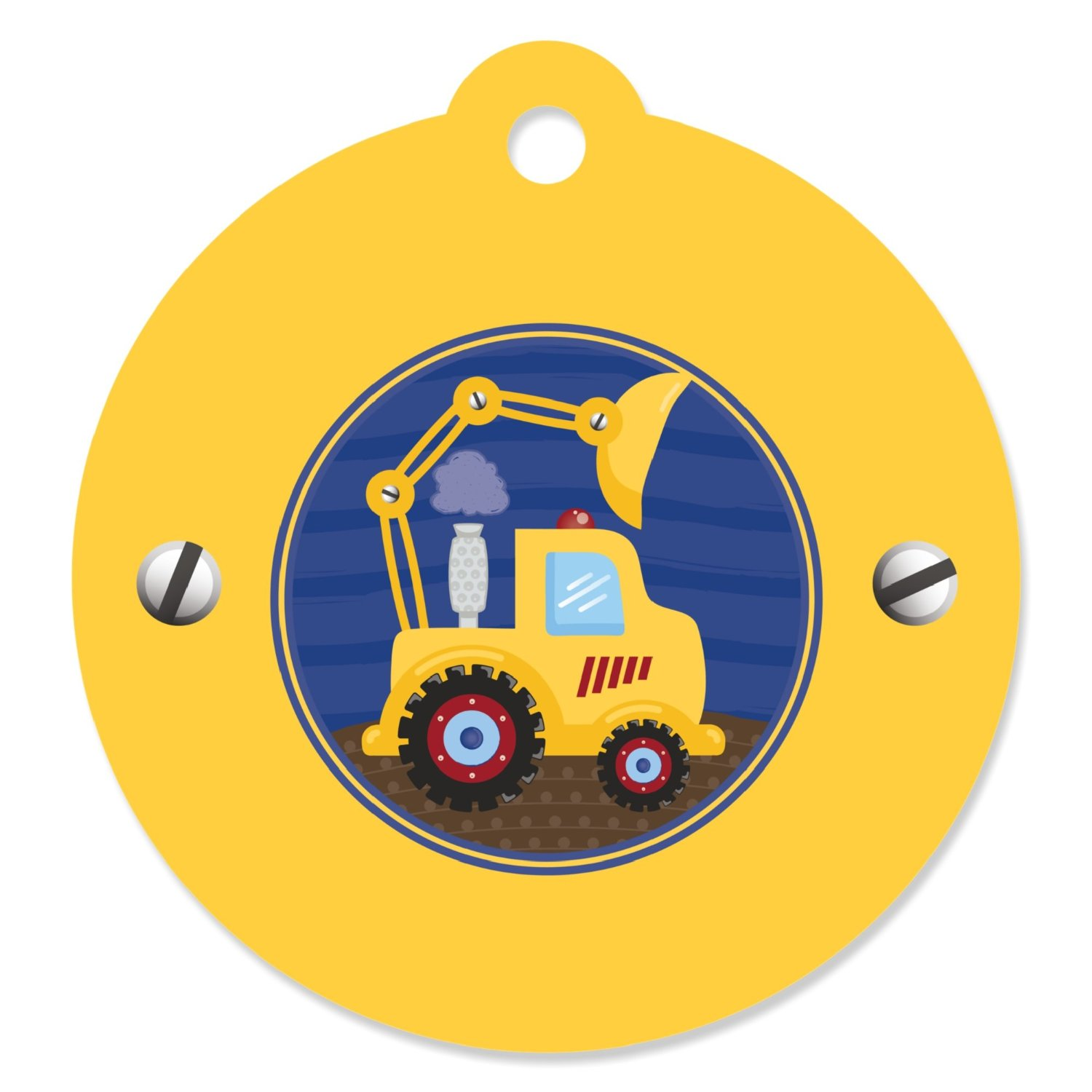 Construction Truck - Baby Shower or Birthday Party Favor Gift Tags (Set of 20)