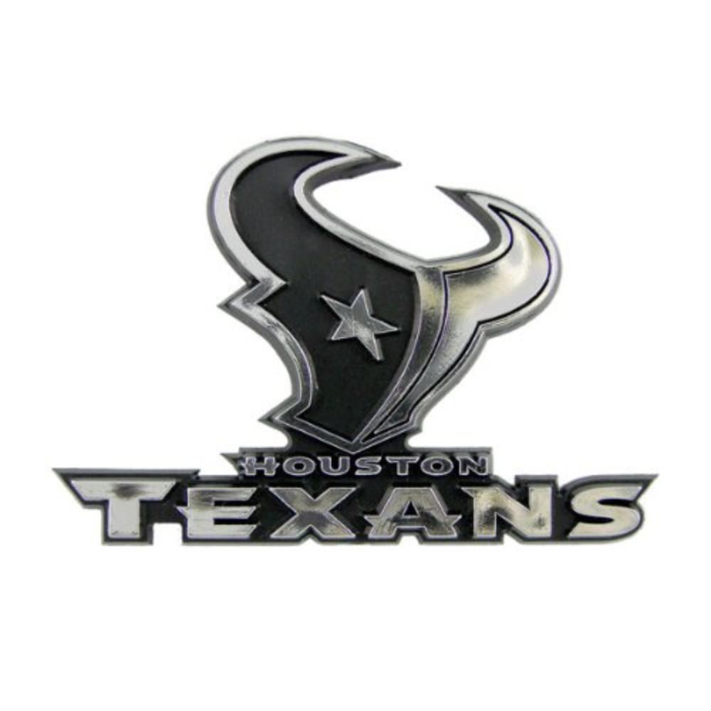Houston Texans Car 3d Chrome Auto Emblem Quick Shipping By Hall Of