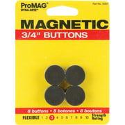 "Magnum Magnetics Corp Dyna-Mite Magnetic Buttons-3/4"" 8/Pkg"