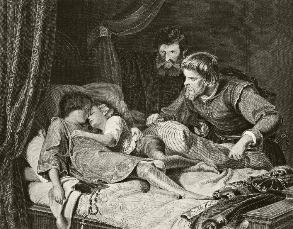 The Murder Of The Princes Edward And Richard In The Tower Of London From  The National And Domestic History Of England By William Aubrey Published