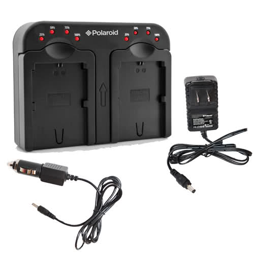 Polaroid Double Dual Battery Charger For Canon NB-4L NB-5L NB-6L Batteries &More