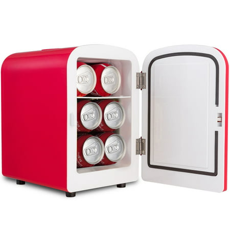 Costway 4L Portable Mini Fridge Cooler and Warmer, Red