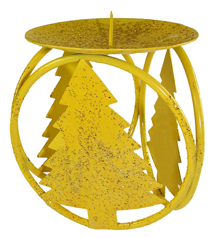 "Loi 72ct Christmas Tree Pillar Candle Holder Set 4.25"" - Yellow"