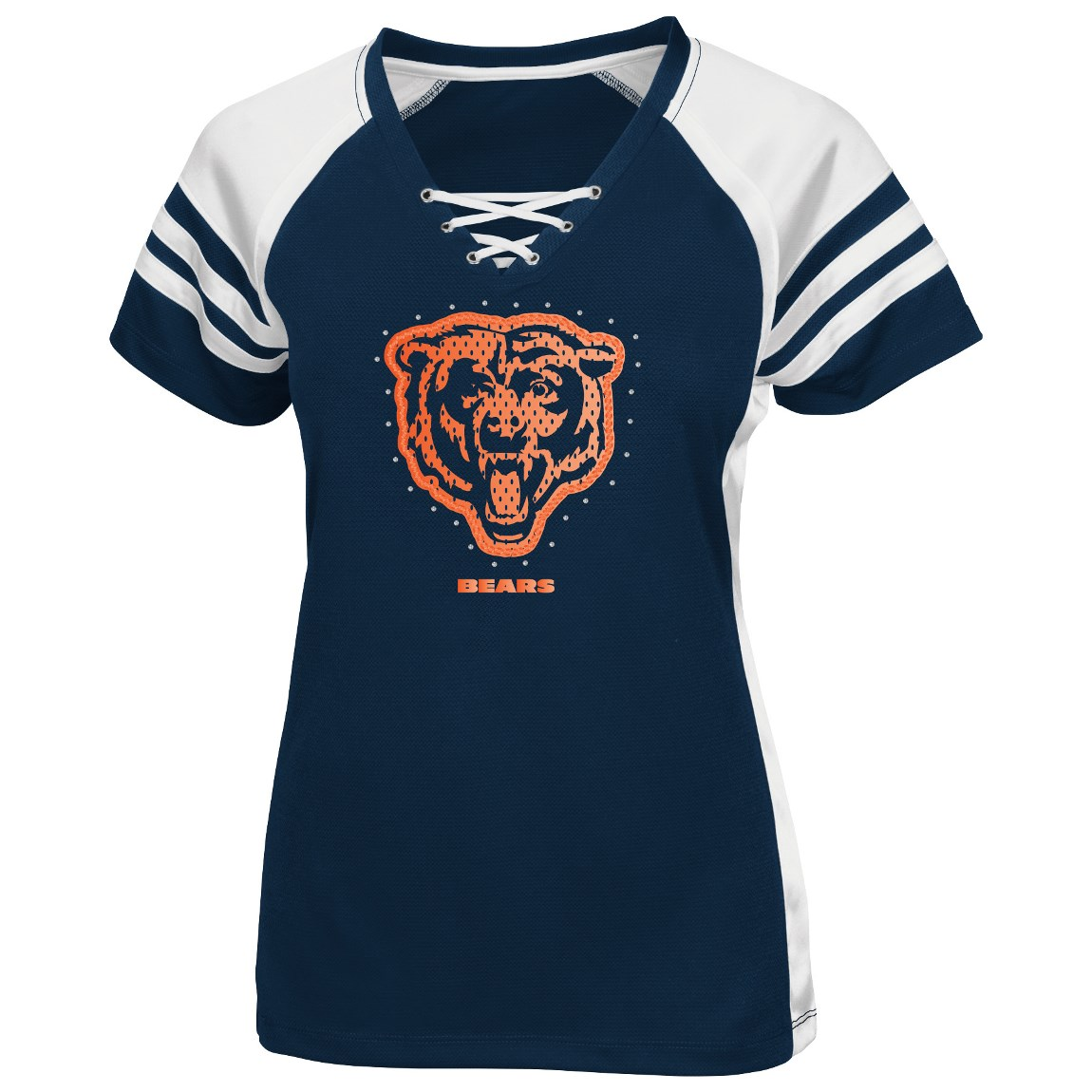 Chicago Bears Draft Me VII Women's Short Sleeve V-Neck Synthetic T-Shirt