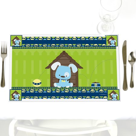 Boy Puppy Dog - Party Table Decorations - Baby Shower or Birthday Party Placemats - Set of - Puppy Dog Birthday Decorations